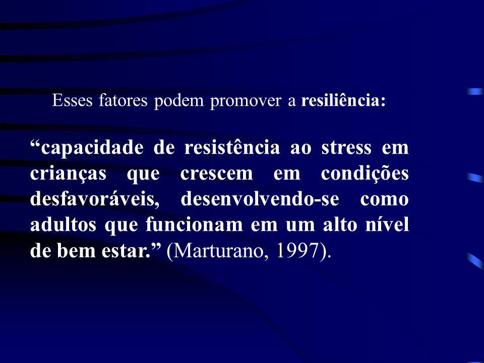Esses fatores podem promover a resiliência: