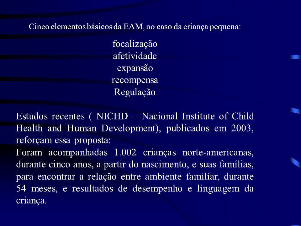 Cinco elementos básicos da EAM, no caso da criança pequena: