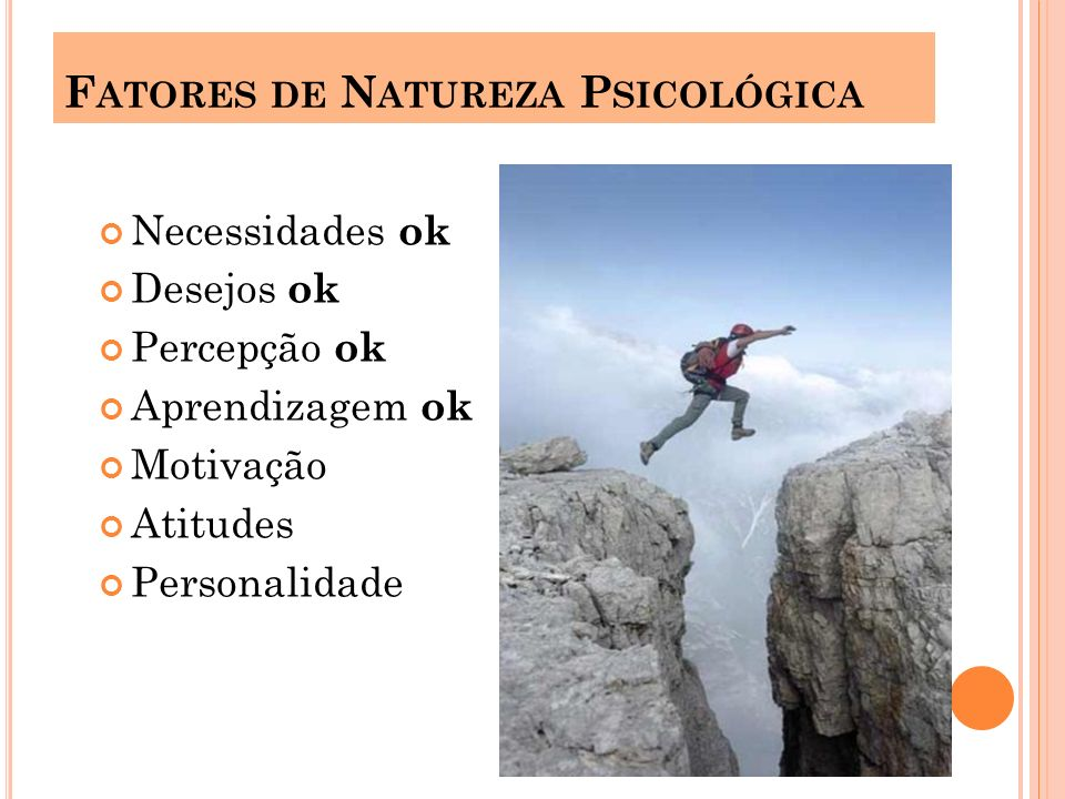 Fatores de Natureza Psicológica