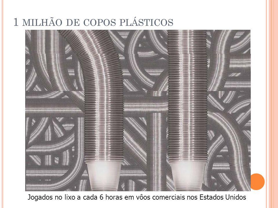 1 milhão de copos plásticos