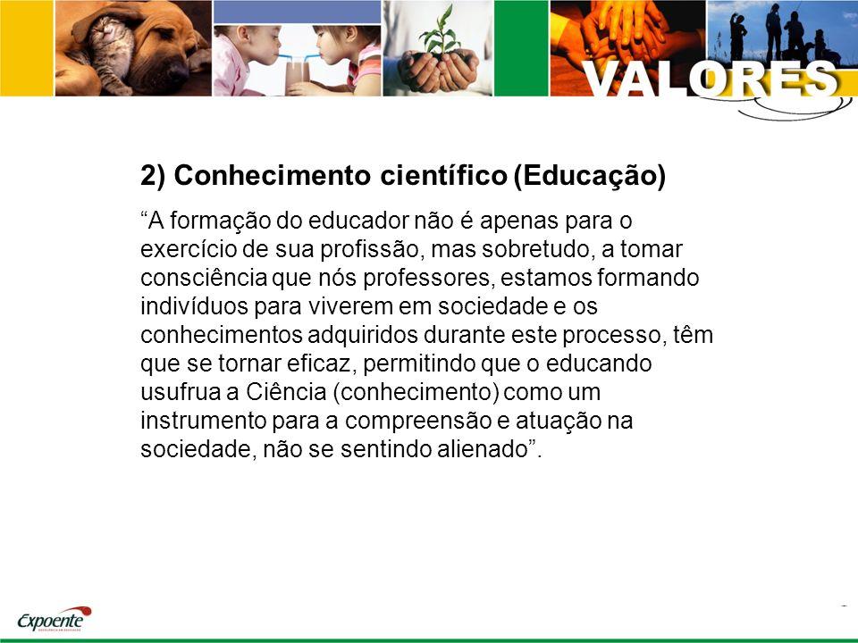 2) Conhecimento científico (Educação)