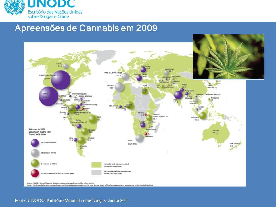 Apreensões de Cannabis em 2009