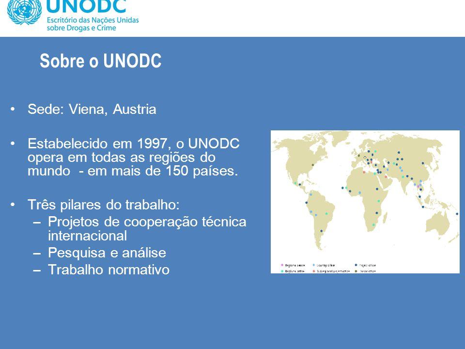 Sobre o UNODC Sede: Viena, Austria