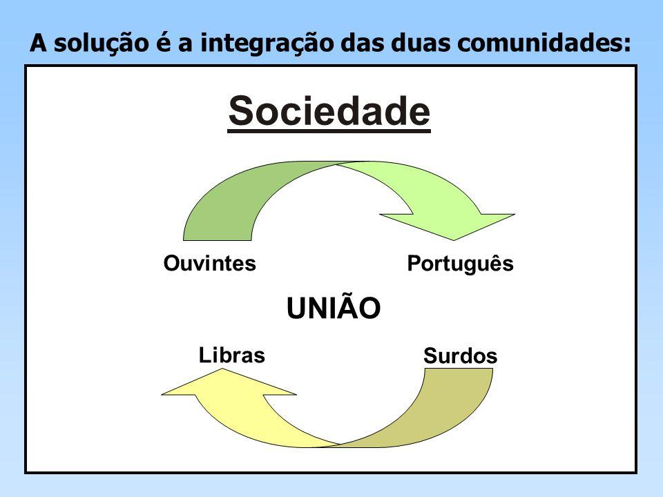 A solução é a integração das duas comunidades: