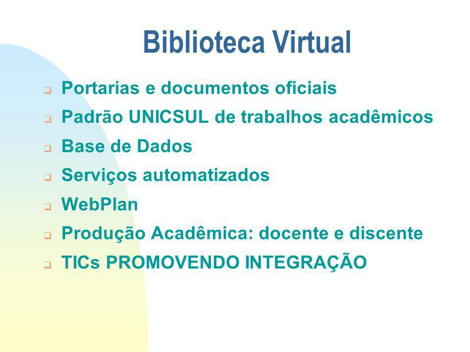 Biblioteca Virtual Portarias e documentos oficiais