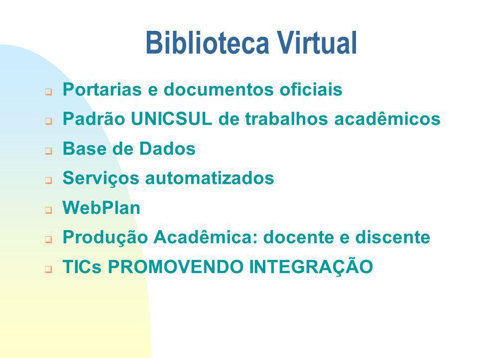 Biblioteca Virtual Portarias e documentos oficiais