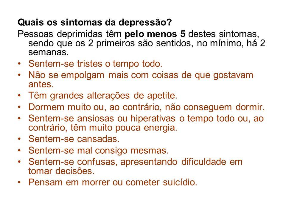 Quais os sintomas da depressão