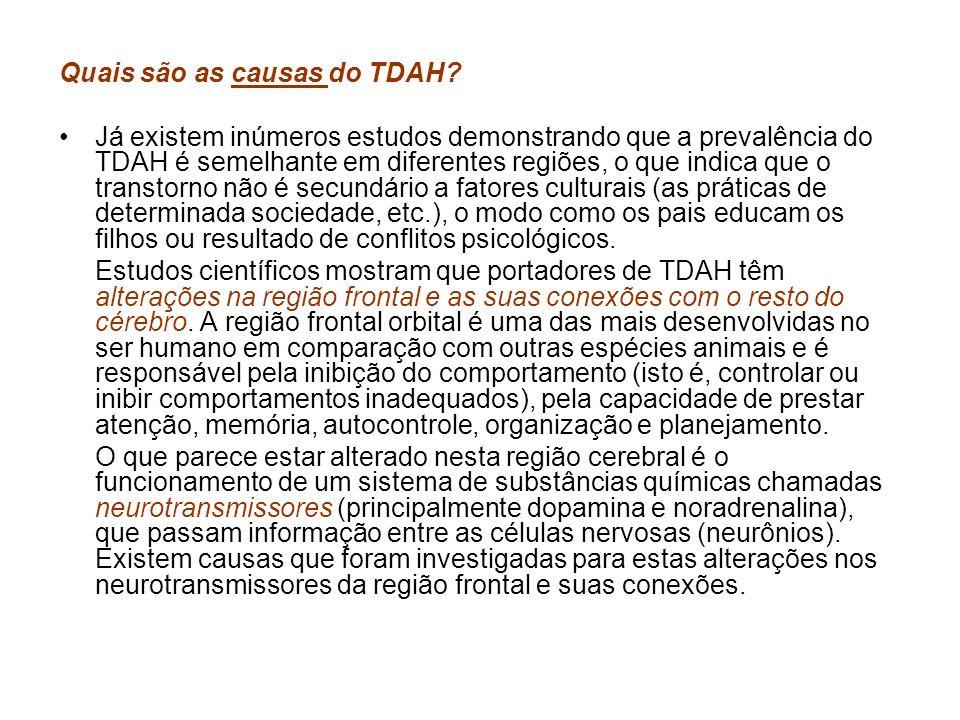 Quais são as causas do TDAH