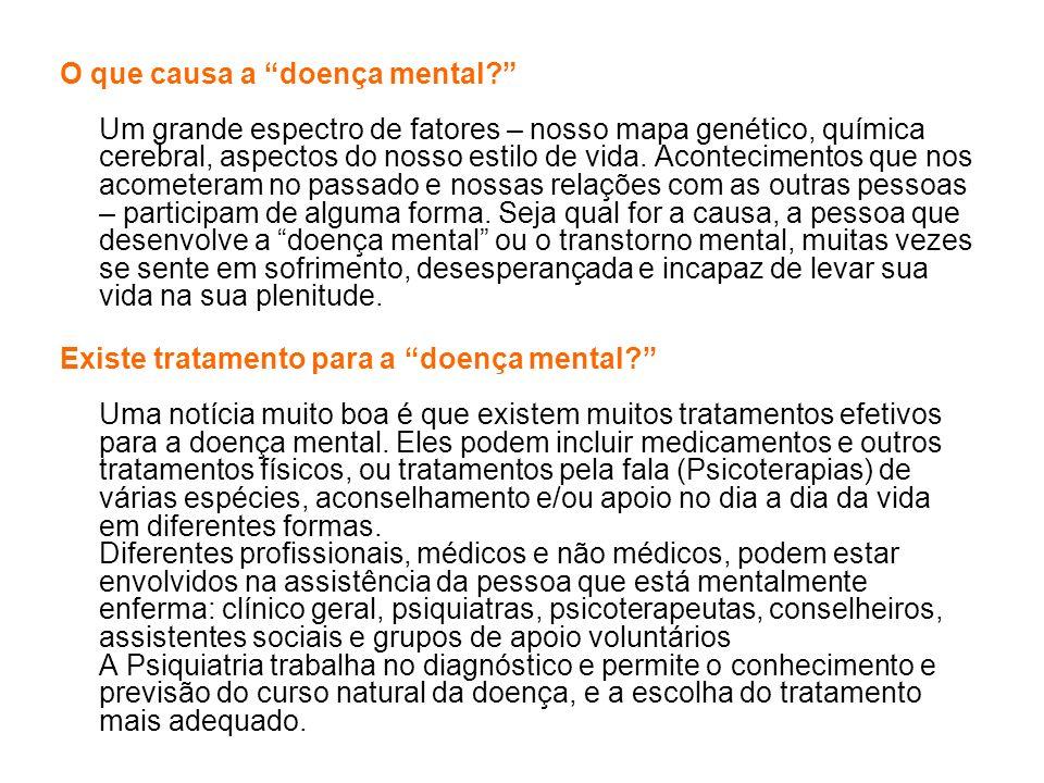 O que causa a doença mental