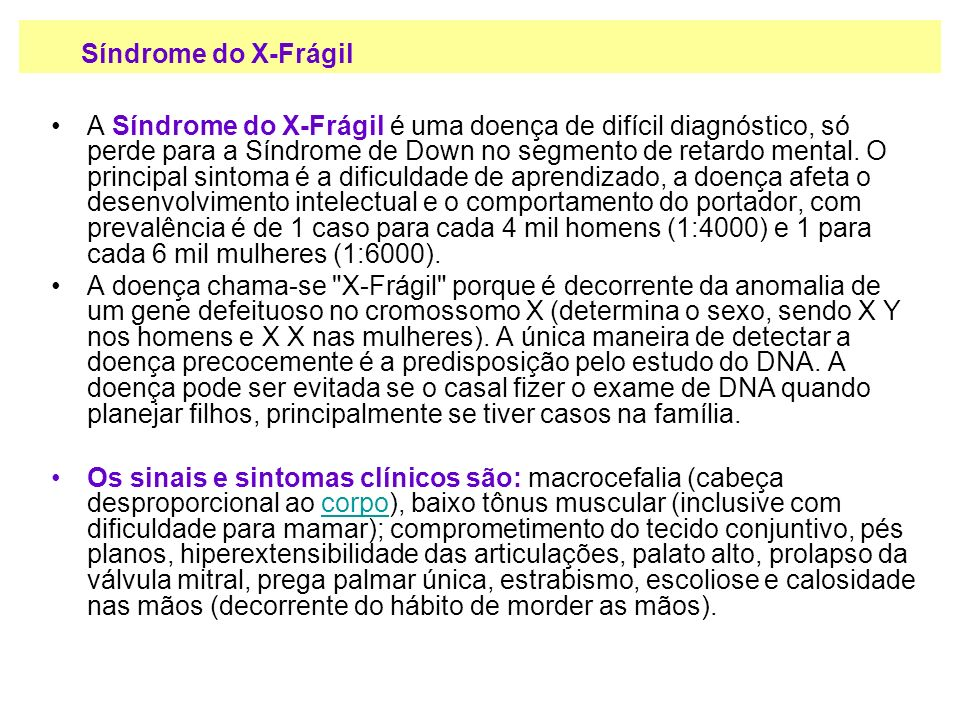 Síndrome do X-Frágil