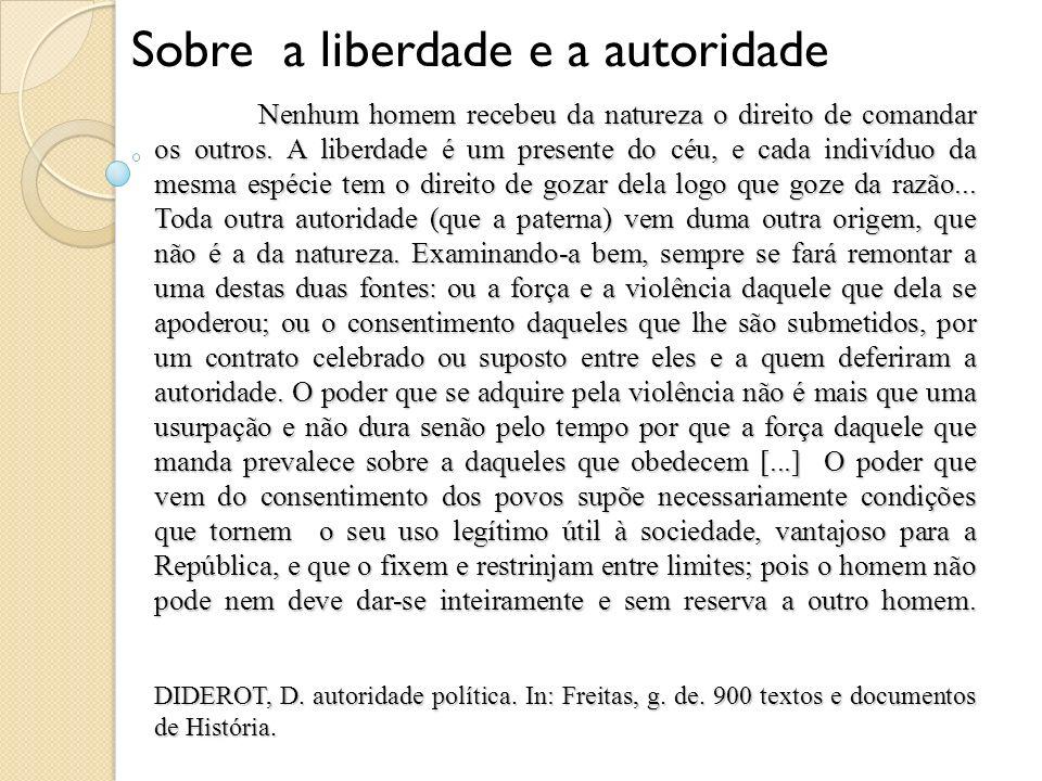 Sobre a liberdade e a autoridade