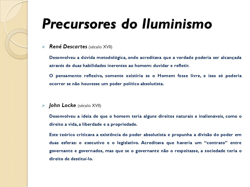 Precursores do Iluminismo