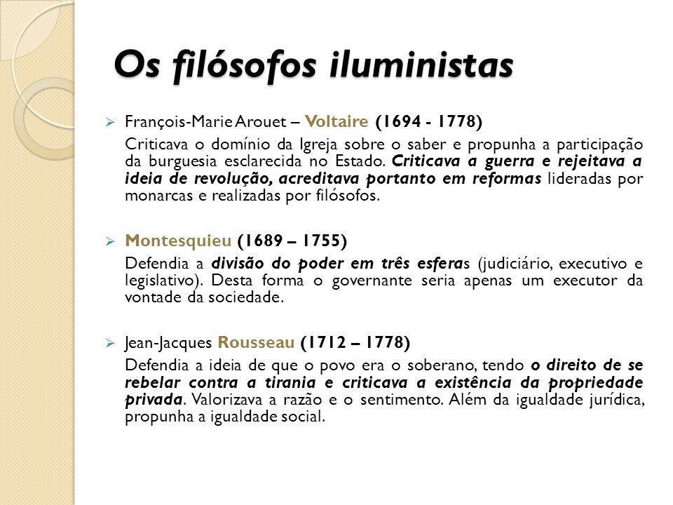 Os filósofos iluministas
