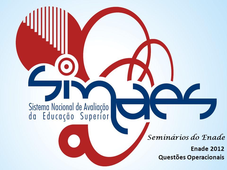 Seminários do Enade Enade 2012 Questões Operacionais