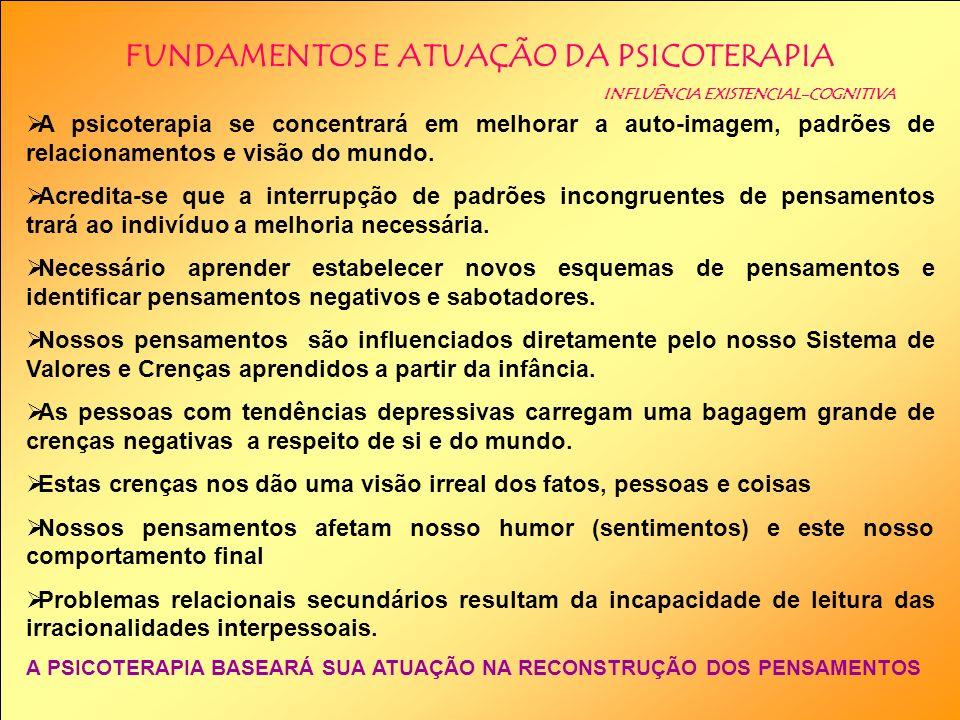 FUNDAMENTOS E ATUAÇÃO DA PSICOTERAPIA