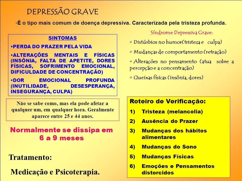 Síndrome Depressiva Grave: