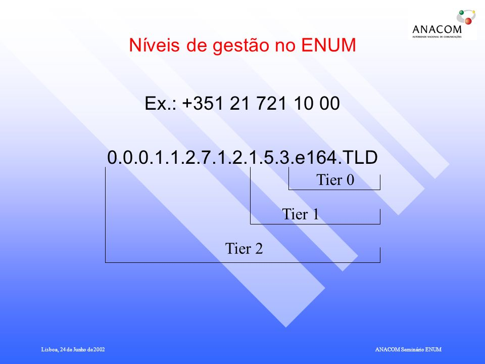 Níveis de gestão no ENUM