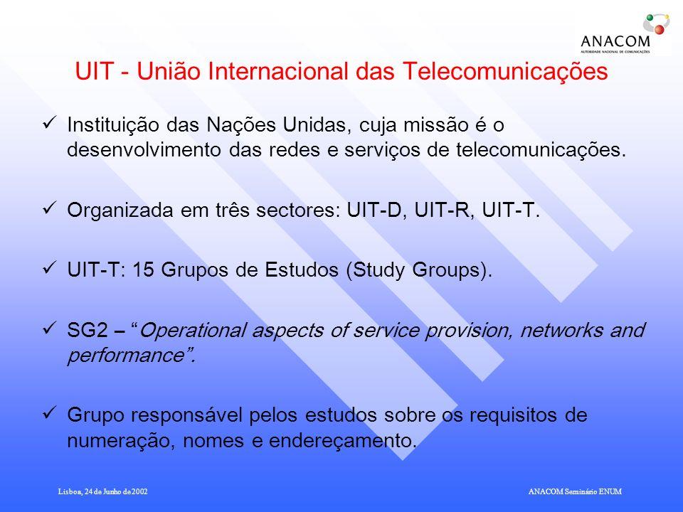 UIT - União Internacional das Telecomunicações