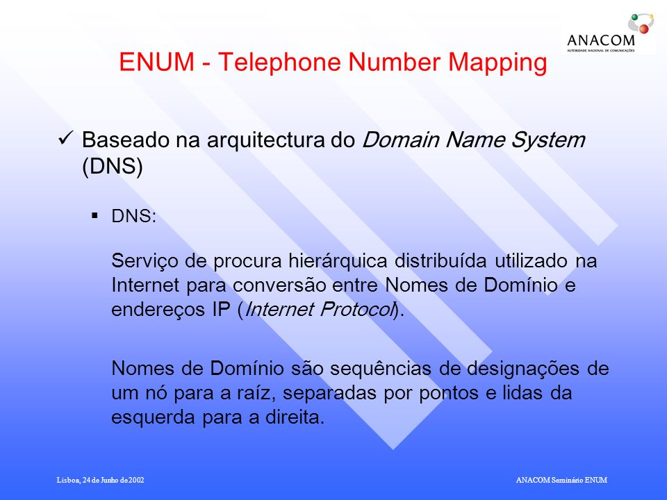 ENUM - Telephone Number Mapping