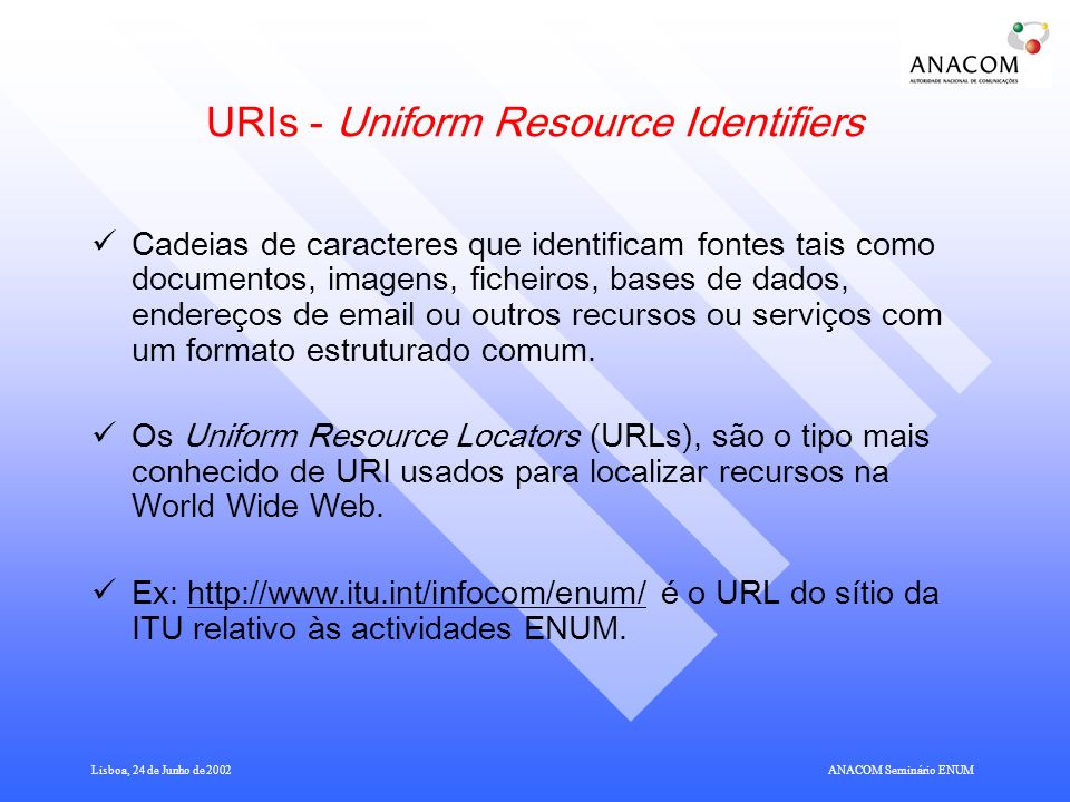 URIs - Uniform Resource Identifiers