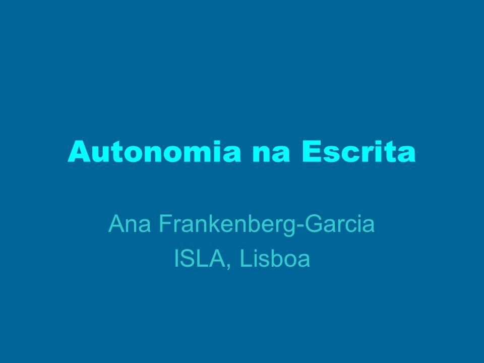 Ana Frankenberg-Garcia ISLA, Lisboa