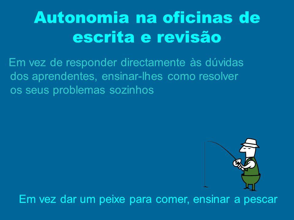 Autonomia na oficinas de escrita e revisão
