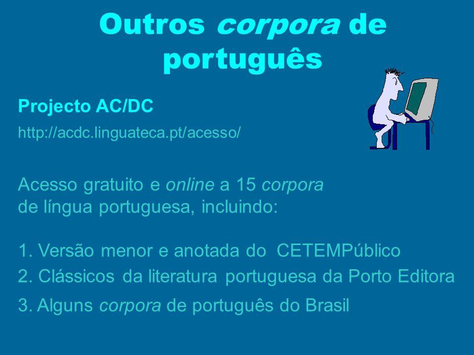 Outros corpora de português