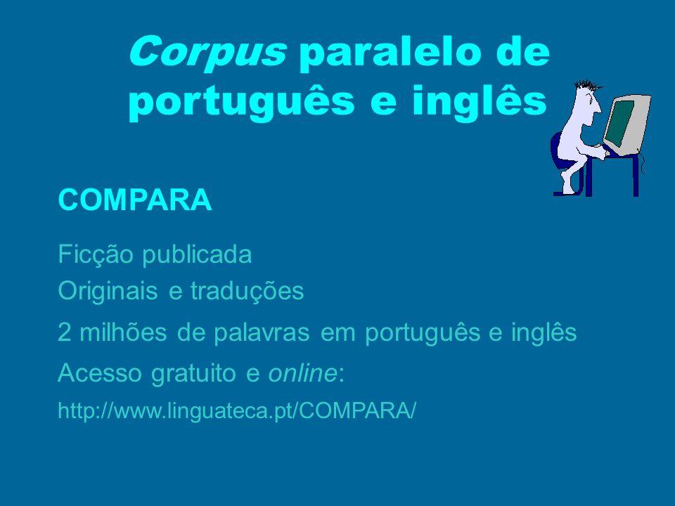 Corpus paralelo de português e inglês