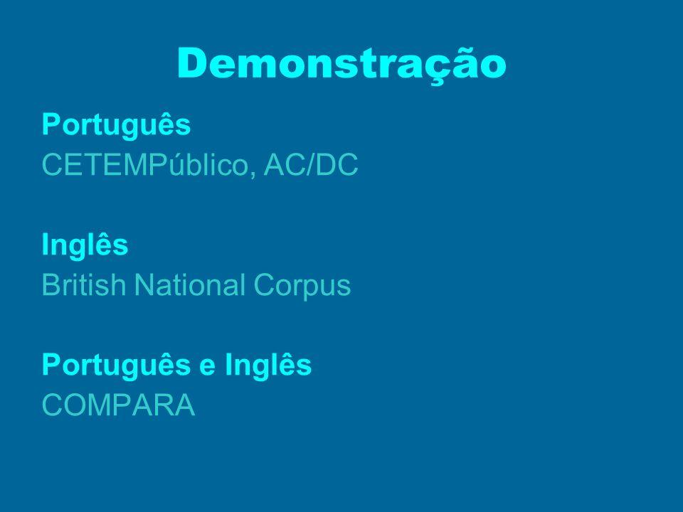 Demonstração Português CETEMPúblico, AC/DC Inglês