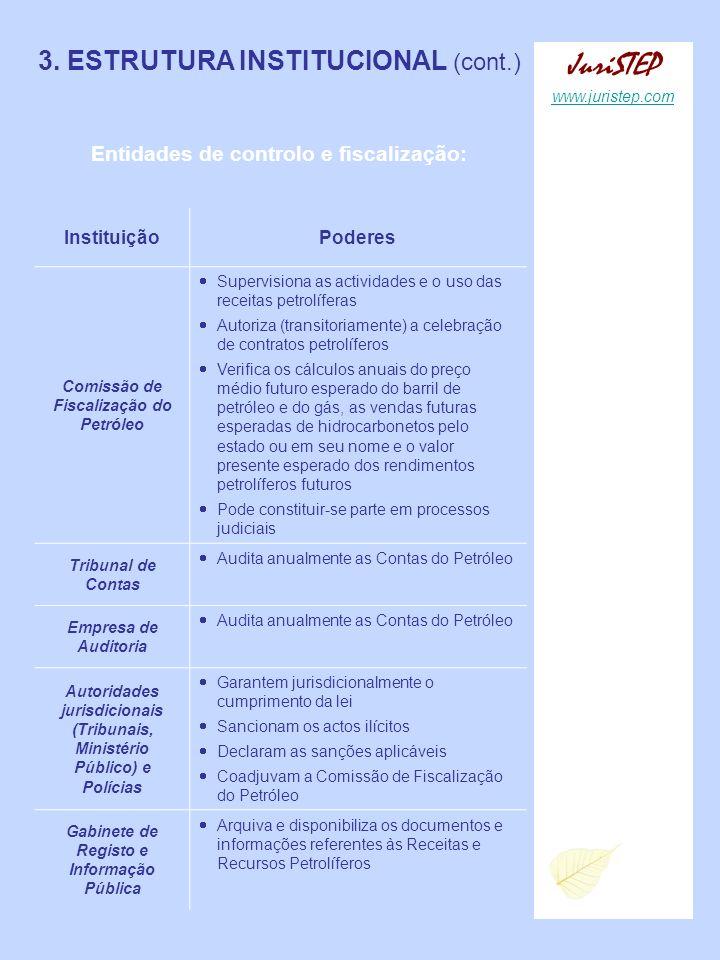 JuriSTEP 3. ESTRUTURA INSTITUCIONAL (cont.)