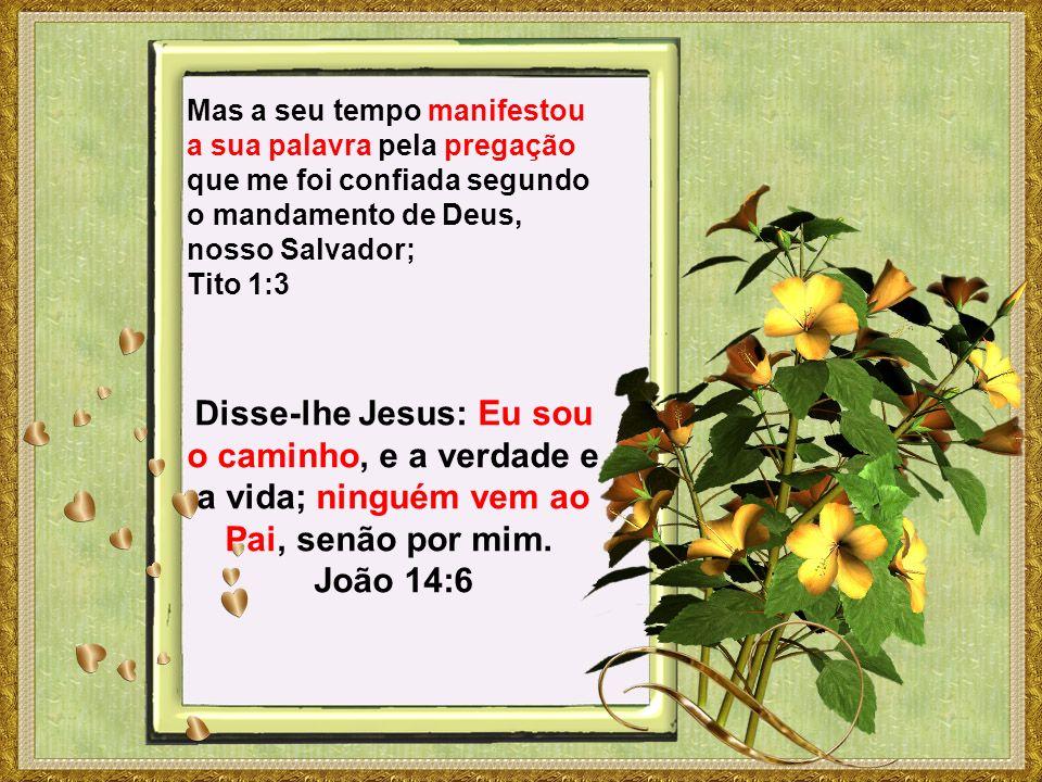 Mas a seu tempo manifestou a sua palavra pela pregação que me foi confiada segundo o mandamento de Deus, nosso Salvador; Tito 1:3