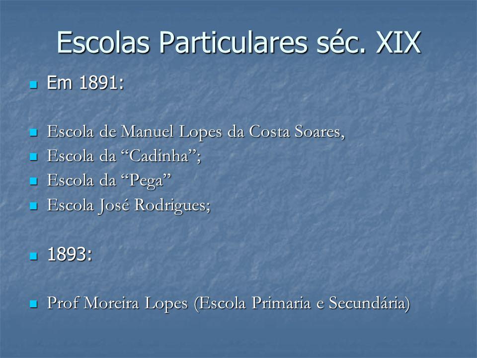 Escolas Particulares séc. XIX