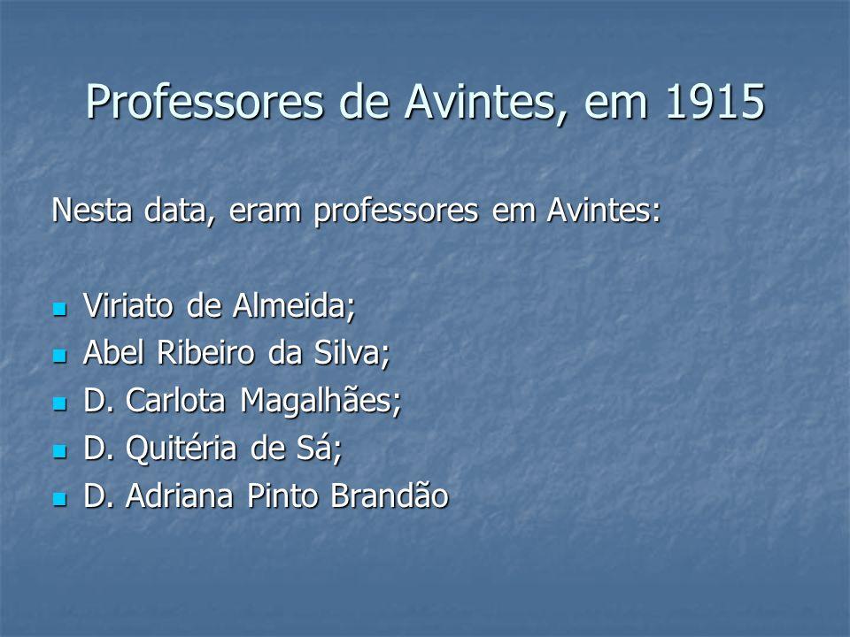 Professores de Avintes, em 1915