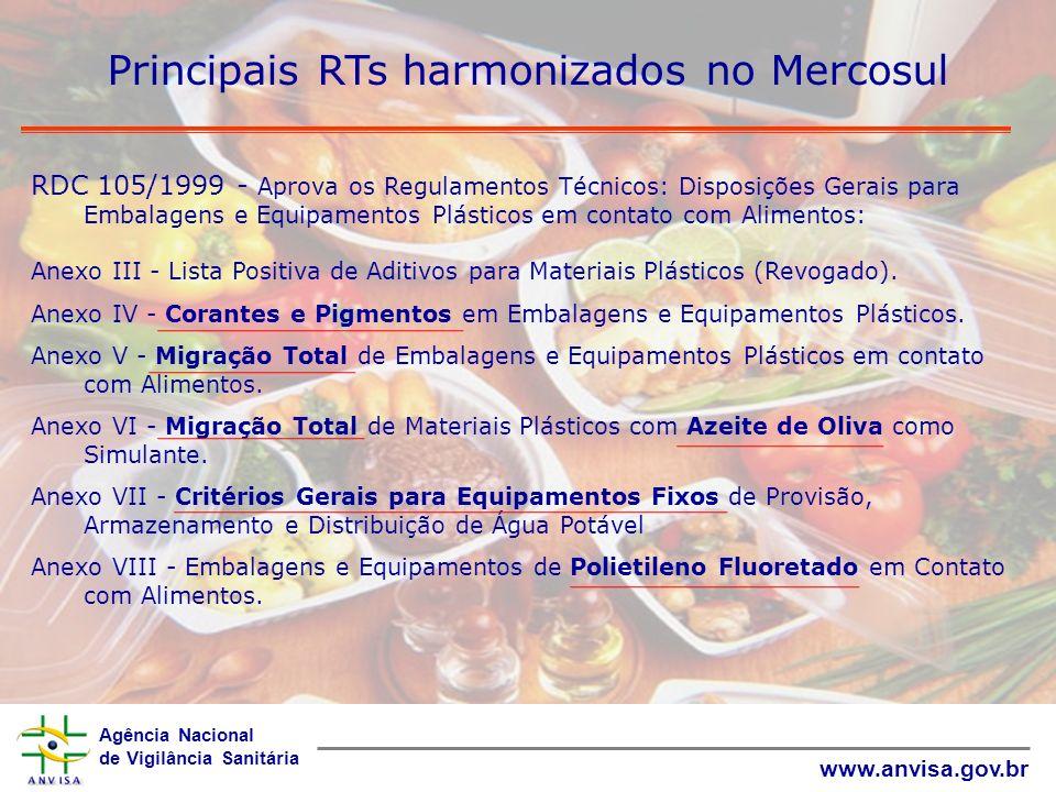 Principais RTs harmonizados no Mercosul