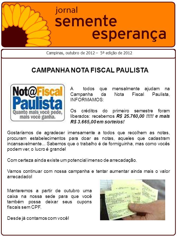 CAMPANHA NOTA FISCAL PAULISTA