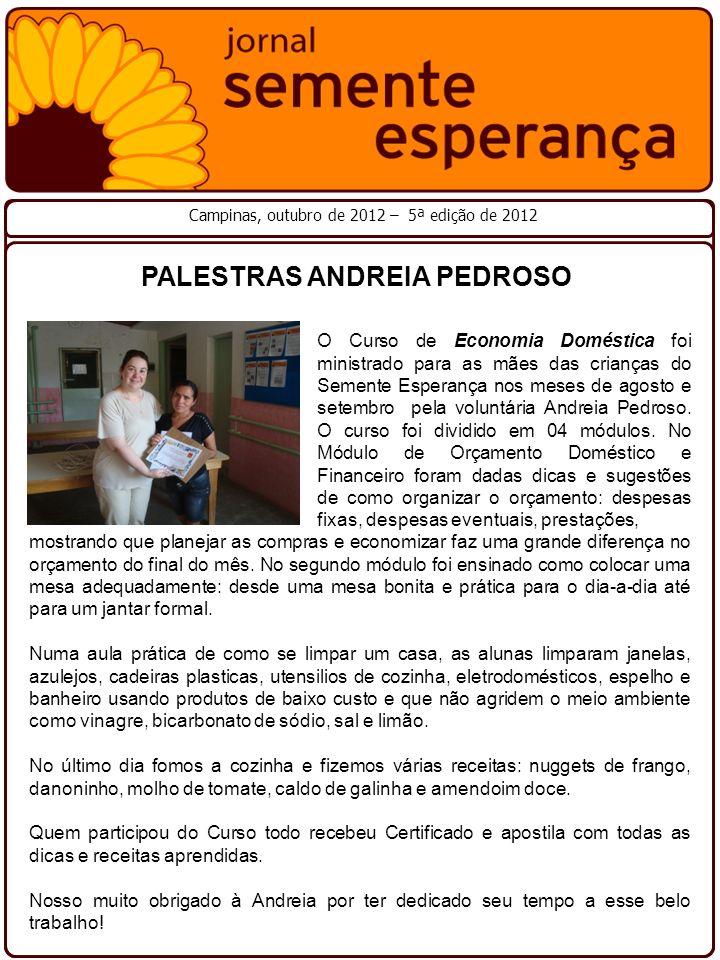 PALESTRAS ANDREIA PEDROSO