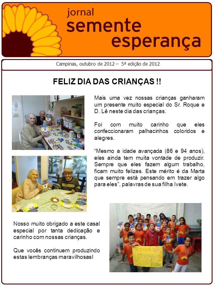 Campinas, outubro de 2012 – 5ª edição de 2012