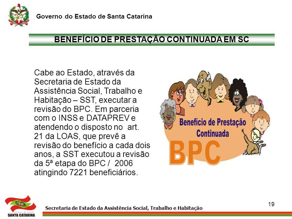BENEFÍCIO DE PRESTAÇÃO CONTINUADA EM SC