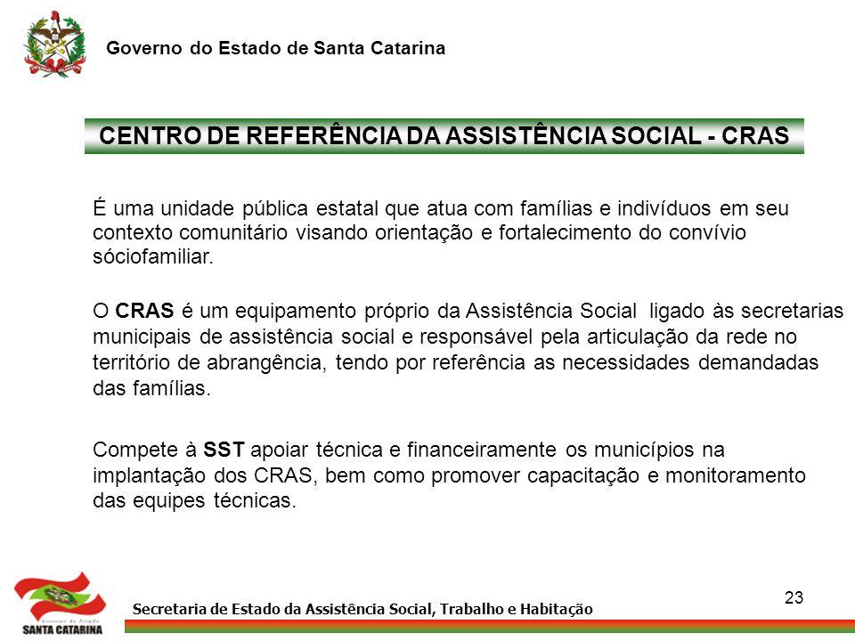 CENTRO DE REFERÊNCIA DA ASSISTÊNCIA SOCIAL - CRAS
