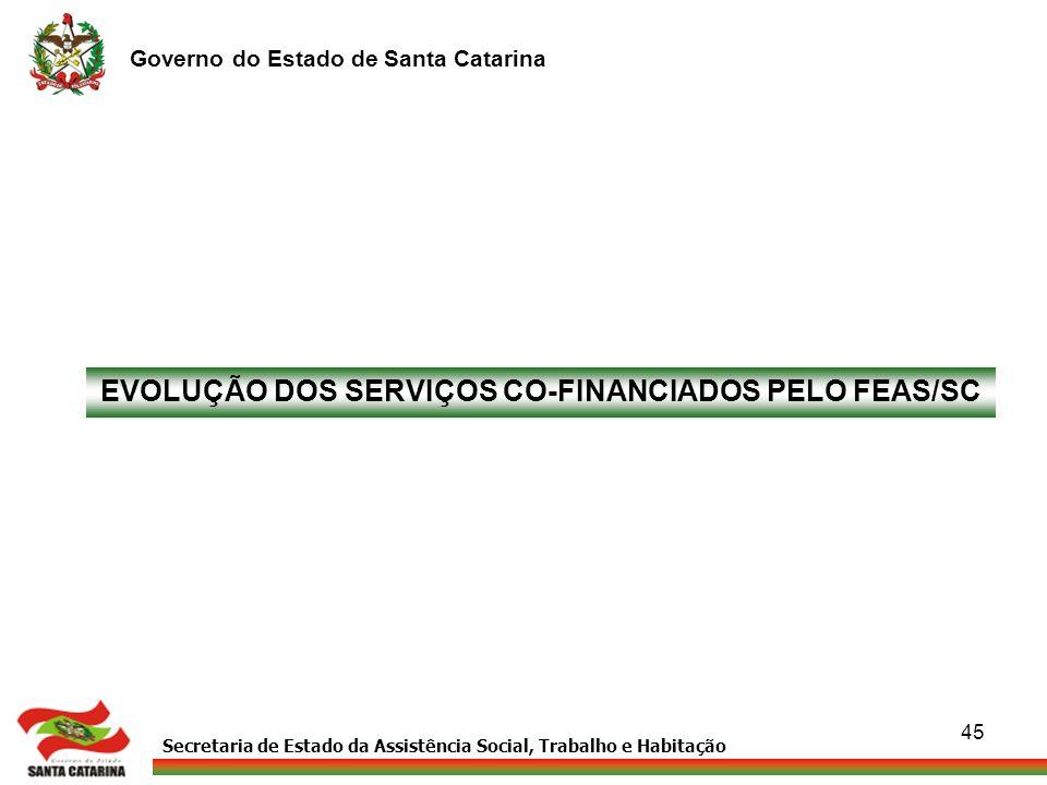 EVOLUÇÃO DOS SERVIÇOS CO-FINANCIADOS PELO FEAS/SC