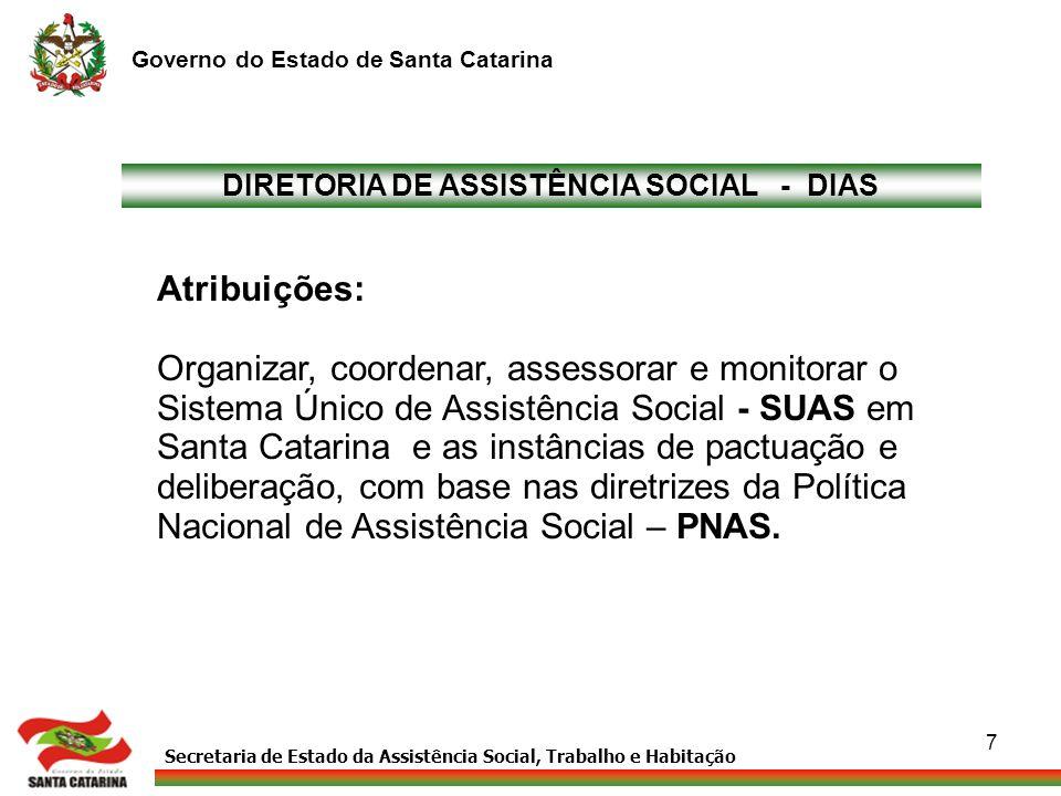 DIRETORIA DE ASSISTÊNCIA SOCIAL - DIAS