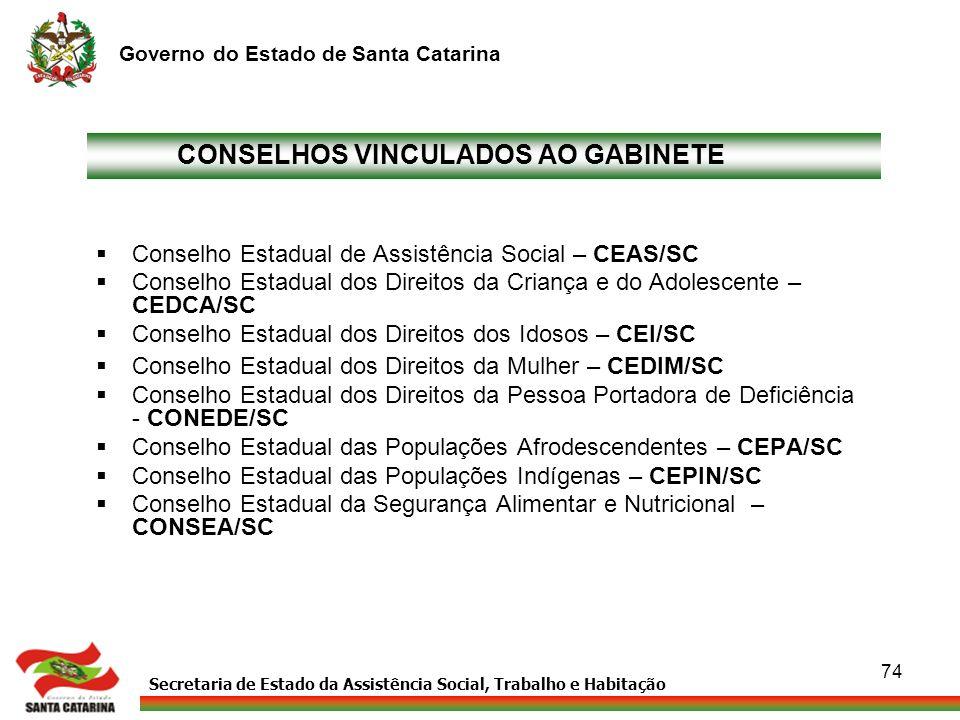 CONSELHOS VINCULADOS AO GABINETE