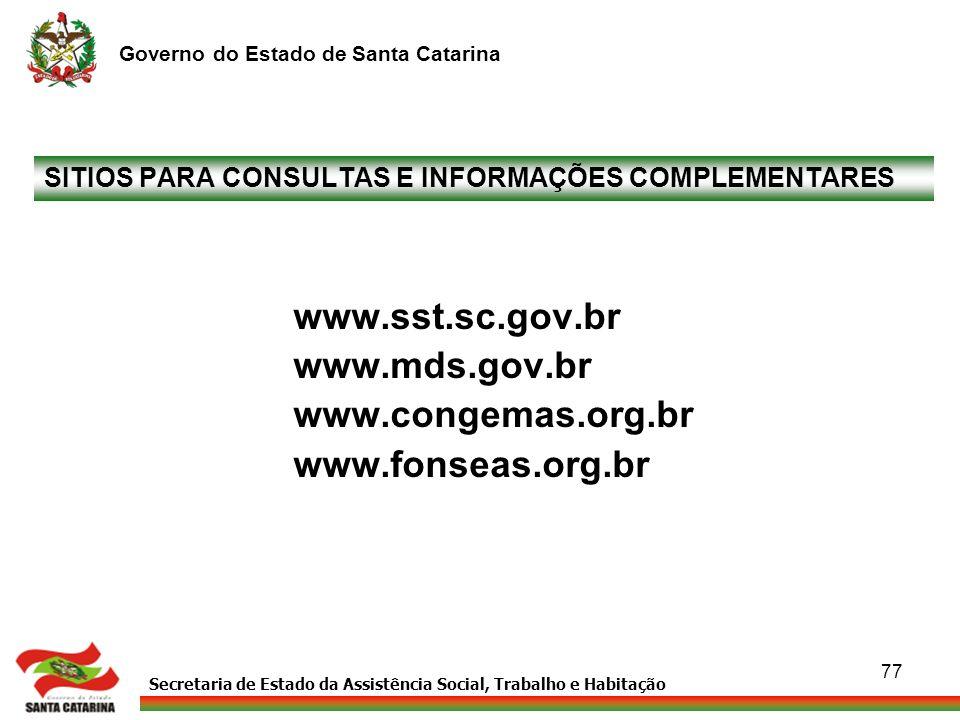 SITIOS PARA CONSULTAS E INFORMAÇÕES COMPLEMENTARES