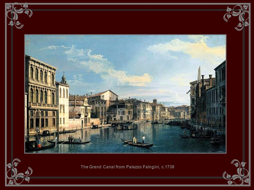 The Grand Canal from Palazzo Falngini, c.1738