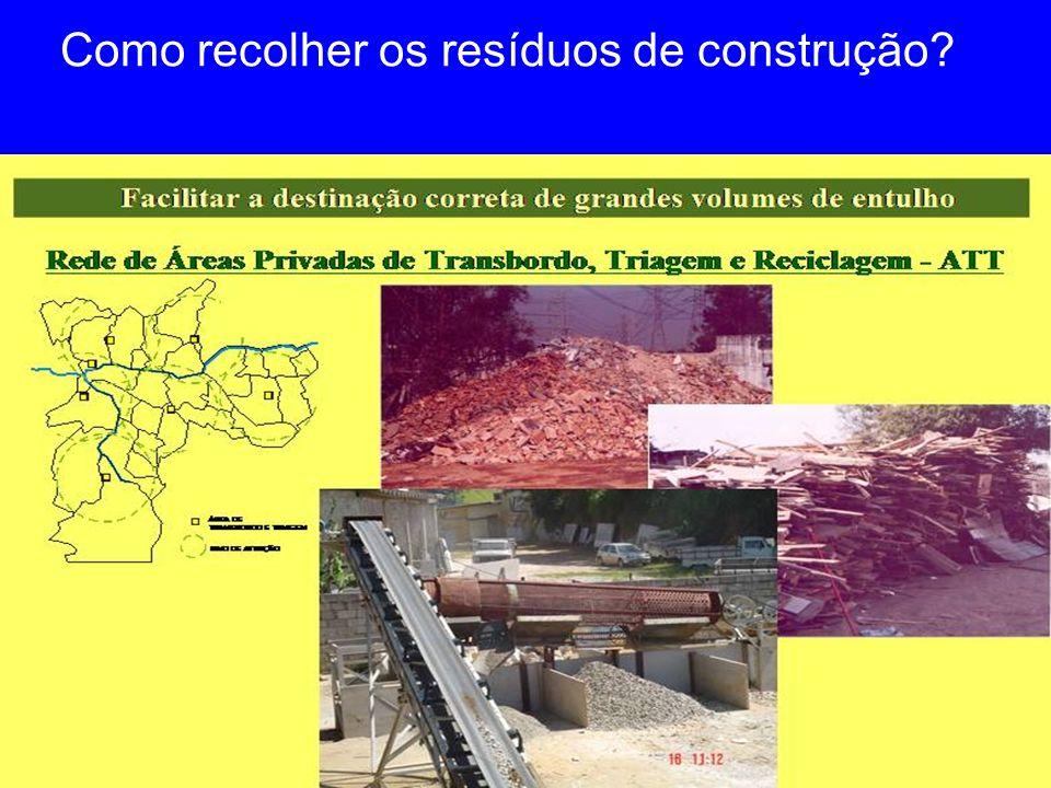 Como recolher os resíduos de construção