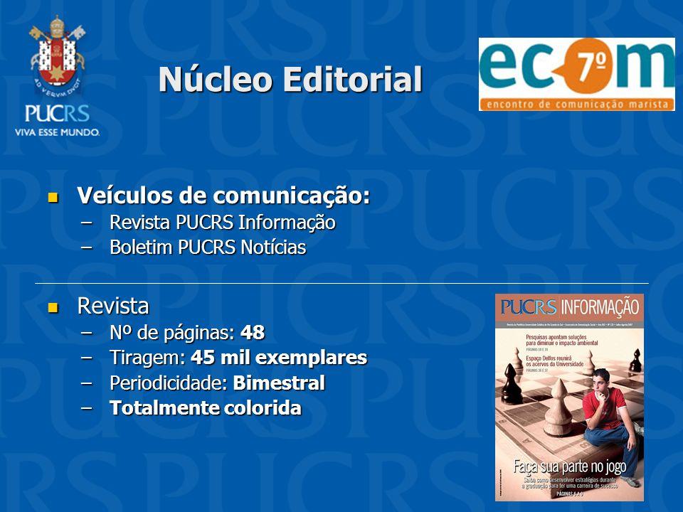 Núcleo Editorial Veículos de comunicação: Revista