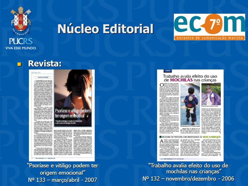 Núcleo Editorial Revista: Psoríase e vitiligo podem ter