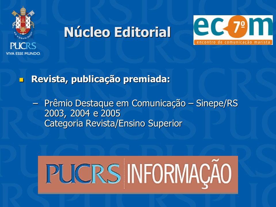 Núcleo Editorial Revista, publicação premiada: