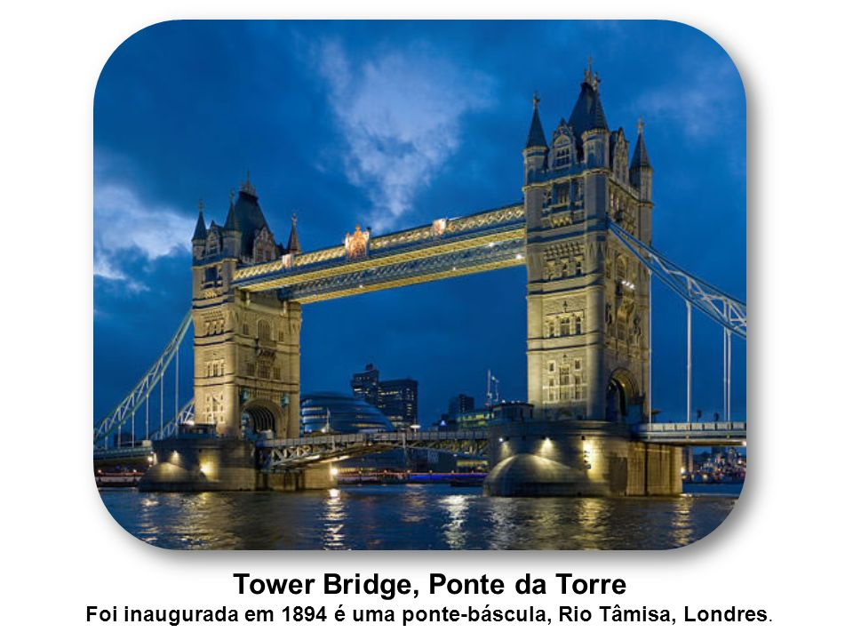 Tower Bridge, Ponte da Torre