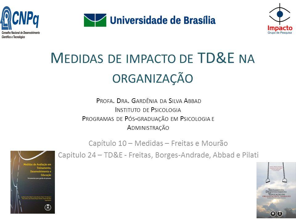 Medidas de impacto de TD&E na organização